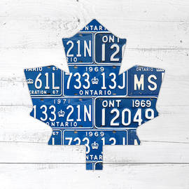 Design Turnpike - Toronto Maple Leafs Hockey Team Retro Logo Vintage Recycled Ontario Canada License Plate Art