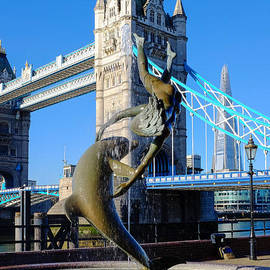 Mark Monckton - Tower Bridge and Dolphin View River Thames London England UK
