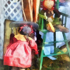 Susan Savad - Toys - Two Rag Dolls at Flea Market
