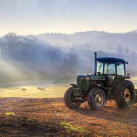 Debra and Dave Vanderlaan - Tractor in the Fog