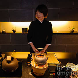 David Hill - Traditional and modern styles merge - tea shop in Japan