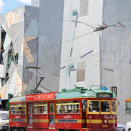 David Hill - Traditional and modern symbols of Melbourne - tram and architecture