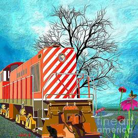 Liane Wright - Train - All Aboard - Transportation