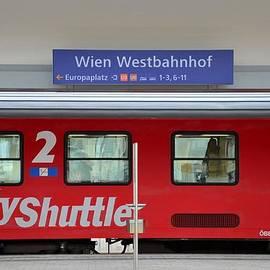 Imran Ahmed - Train at Vienna Wien Westbahnhoff railway station Austria