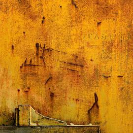 Lawrence Costales - Train Door Stop In Yellow