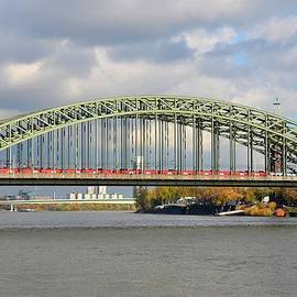 Imran Ahmed - Train on bridge at Rhine River Cologne Germany