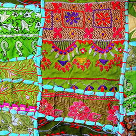 Sue Jacobi - Travel Shopping Colorful Tapestry Series 10 India Rajasthan