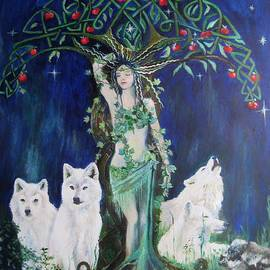 Siobhan Lewis - Tree Mother and Her White Wolves