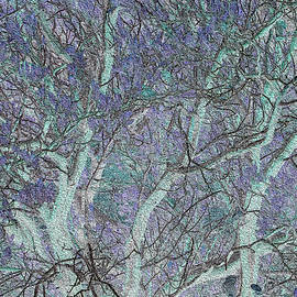 Stephanie Grant - Trees in Celadon and Lavender