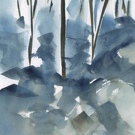 Frank Bright - Trees In Winter Abstract