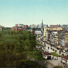Blue Monocle - Tremont Street and Boston Common - Boston - Massachusetts - Vintage Photo from circa 1904