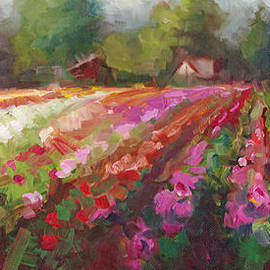 Talya Johnson - Trespassing Dahlia field landscape