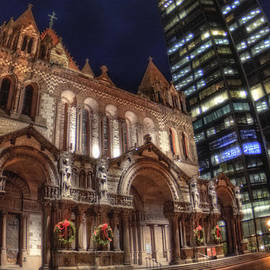 Joann Vitali - Trinity Church and John Hancock Building - Boston