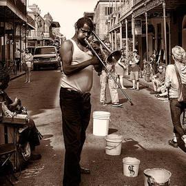 Kathleen K Parker - Trombone Man on Royal St. New Orleans