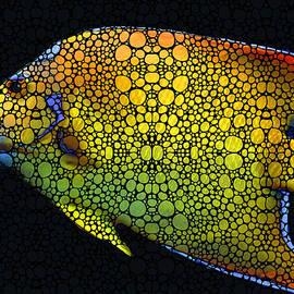 Sharon Cummings - Tropical Fish 12 - Abstract Art By Sharon Cummings