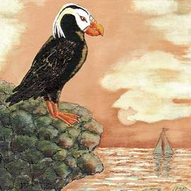 VLee Watson - TUFTED PUFFIN at DUSK