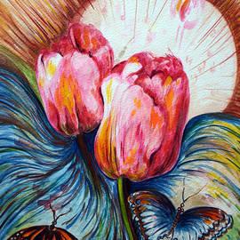 Harsh Malik - Tulips and butterflies