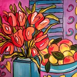 Nikki Dalton - Tulips and Fruit