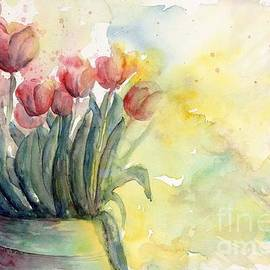 CheyAnne Sexton - Tulips by Candlelight watercolor