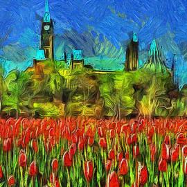 Mario Carini - Tulips Van Gogh on Parliament Hill