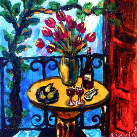 Karon Melillo DeVega - Tulips Wine and Pears