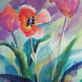 Kathy Braud - Tulips with Lavender