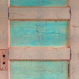 Asha Carolyn Young - Turquoise Doorway and Ladder to the Sky