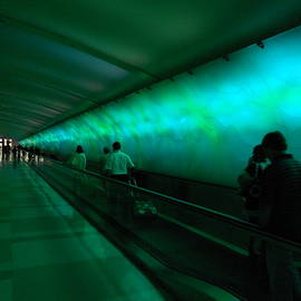 Dotti Hannum - Turquoise Moving Walkway