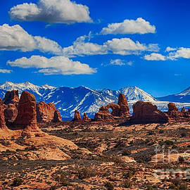Scotts Scapes - Turret Arch and the Manti la Sal Mountains