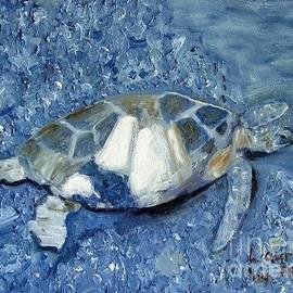Laurie Morgan - Turtle on Black Sand Beach