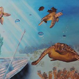 Turtles At Sea