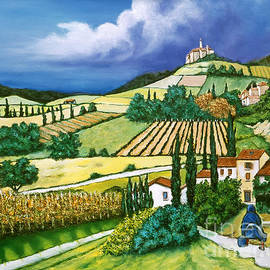 William Cain - Tuscan Fields