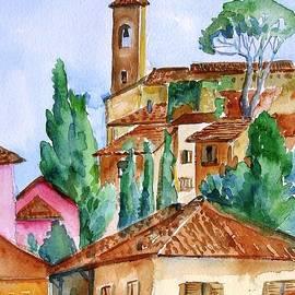 Trudi Doyle - Tuscan rooftops  -Montecatini Alto
