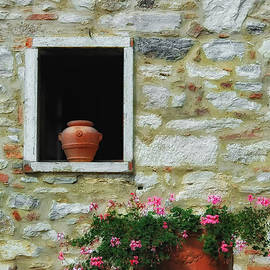 Mike Nellums - Tuscan Window and Flower Pot