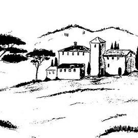 Christine Huwer - Tuscany- Again and again black and white