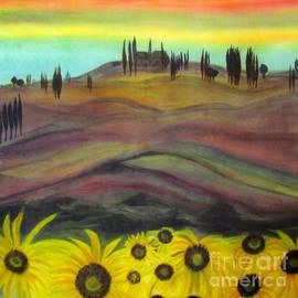 Veronica V Bahman - Tuscany Sunset