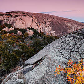 Silvio Ligutti - Twilight and Earth Shadow at Enchanted Rock State Natural Area - Fredericksburg Texas Hill Country