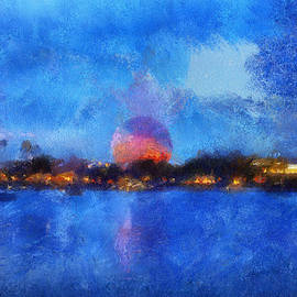 Thomas Woolworth - Twilight Epcot World Showcase Lagoon WDW 02 Photo Art