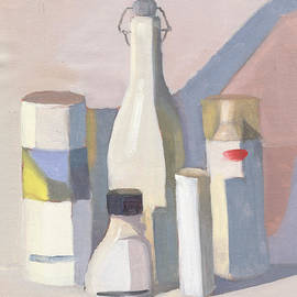 Elizabeth B Tucker  - Two Bottles and Three Cans Poster Study
