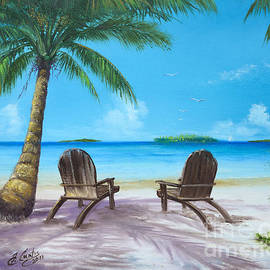 Earl Butch Curtis - Two Chairs On The Beach