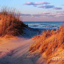 Dan Carmichael - Two Dunes at Sunset - Outer Banks
