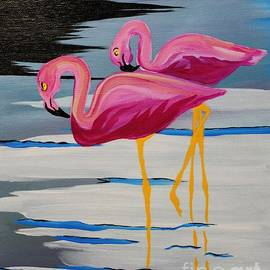 Janice Rae Pariza - Two Flamingo
