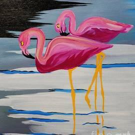 Janice Rae Pariza - Two Flamingo