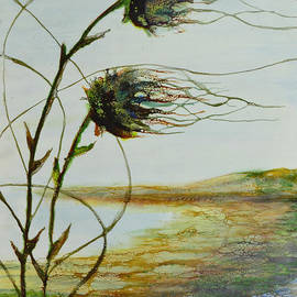 Jennifer  Creech - Two Flowers by the Bay