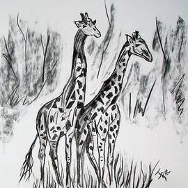 Janice Rae Pariza - Two Giraffe