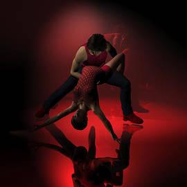 Judi Suni Hall - Two Jazz Dancers in Red