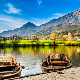 Dejan Stojakovic - Two love boats enjoying the beautiful landscape in Slovenia