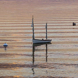 Marty Saccone - Two Masted Skiff at Mooring