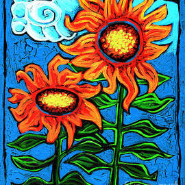 Genevieve Esson - Two Orange  Sunflowers II