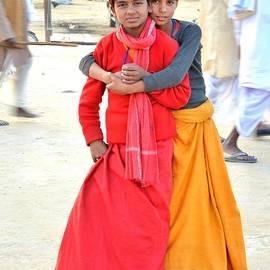 Kim Bemis - Two Pundit Boys - Kumbhla Mela - Allahabad India